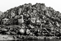 Hampi, India. In black and white. Stock Photography
