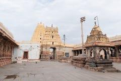 Hampi, India July 8, 2019 : Inner View of Virupaksha or Pampapati temple at Hampi, Karnataka, India. Hampi, India July 8, 2019 : Inner View of Virupaksha or stock image