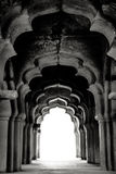Hampi Indien svart white royaltyfria foton
