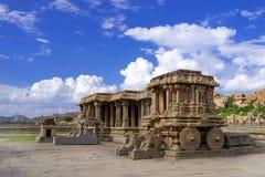 Hampi, Karnataka, India. Stone chariot in courtyard of Vittala Temple Hampi, Karnataka, India stock photography