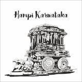 Hampi karnataka sketch or drawing stock photo