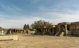Inside Vitala temple - Hampi royalty free stock photo