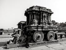 Hampi, la India En blanco y negro imagenes de archivo