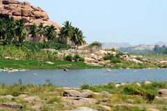 Hampi landscape Stock Photography