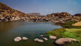 Hampi landscape Royalty Free Stock Images