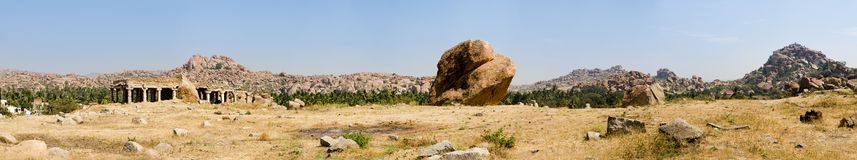 Hampi panorama, India Royalty Free Stock Photography