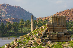 Hampi ruins Stock Photos