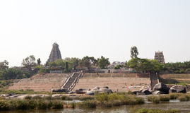 Hampi, the ruins of Hindu temples Stock Image