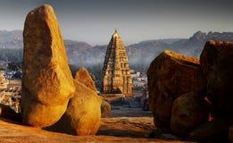 Hampi. Ruins of Hampi, Karnataka, India stock image