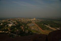 Hampi según lo visto de la colina de Mathanga, Karnataka, la India Imagen de archivo