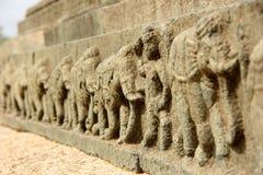 Hampi. Stone Elephant Line in Hampi, Karnataka, India royalty free stock photos