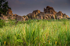 Hampi stone formations Stock Photography