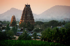 Hampi at sunset Stock Photo