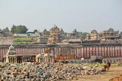 Hampi temples under renovation, India Stock Image