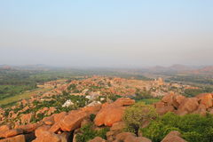 Hampi view from the top, India Royalty Free Stock Photos