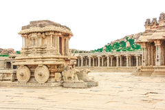 Hampi. Vijaya Vittala Temple,Stone Chariot Stock Image