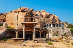 Hampi Vijayanagara Empire monuments, India. The Group of Monuments at Hampi was the centre of the Hindu Vijayanagara Empire in Karnataka state in India royalty free stock image