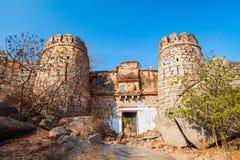 Hampi Vijayanagara Empire monuments, India. The Group of Monuments at Hampi was the centre of the Hindu Vijayanagara Empire in Karnataka state in India royalty free stock photos