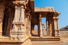 Hampi Vijayanagara Empire monuments, India. The Group of Monuments at Hampi was the centre of the Hindu Vijayanagara Empire in Karnataka state in India stock images