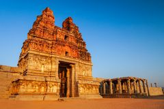 Hampi Vijayanagara Empire monuments, India. The Group of Monuments at Hampi was the centre of the Hindu Vijayanagara Empire in Karnataka state in India royalty free stock images