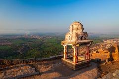 Hampi Vijayanagara Empire monuments, India. The Group of Monuments at Hampi was the centre of the Hindu Vijayanagara Empire in Karnataka state in India stock image