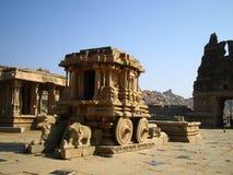 Hampi Vittala Temple. Chariot in the Vittalla temple in Hampi, India royalty free stock image