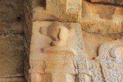 Hampi Vittala Temple Conch Carving on Pillar - Vishnu Shank Royalty Free Stock Photography