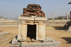Hampi Vittala Temple deformed stone temple structure ruins Royalty Free Stock Images