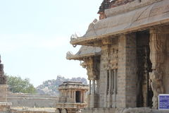 Hampi Vittala Temple mantap structure with ceiling hook Stock Photography