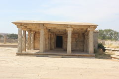 Hampi Vittala Temple mantap structure with pillars Royalty Free Stock Images