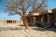 Hampi Vitthala tempel, Indien Arkivbilder