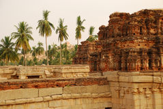 hampiindia karnataka Royaltyfri Foto