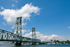 Hampshire most zwodzony Maine nad rzeką piscataqua n Obraz Royalty Free