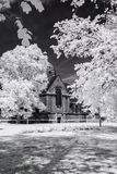 Hampstead Garden Suburb, London UK - Infrared black and white landscape Stock Photography