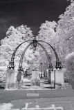 Hampstead Garden Suburb, London UK - Infrared black and white landscape Royalty Free Stock Photography