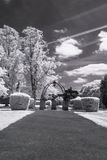 Hampstead Garden Suburb, London UK - Infrared black and white landscape Royalty Free Stock Photos