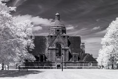 Hampstead Garden Suburb, London UK - Infrared black and white landscape Royalty Free Stock Image