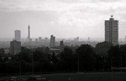 Hampstead Heath, London. A view of Hampstead Heath with the BT Tower in the background Stock Photography