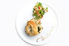 Hampton Bagel met Kip en Gorgonzola stock afbeeldingen