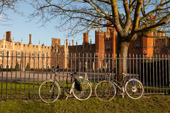 Hampton Court Bicycles Royalty Free Stock Photography