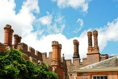 Hampton court chimneys stock images