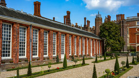Hampton court. Gardens outside of London Stock Photography