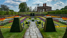 Hampton court. Gardens outside of London Royalty Free Stock Photography