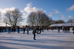 Hampton Court Ice Skaters Royalty Free Stock Photography