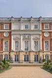 Hampton Court Palace. The rear entrance to Hampton Court Palace in England Royalty Free Stock Photos