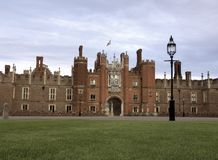 Hampton Court Palace. This Royal Palace on the banks of the river Thames was built for King Henry VIII Stock Photos