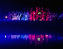 Hampton Court Palace di notte Immagine Stock