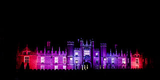 Hampton Court Palace di notte Fotografie Stock