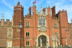 Hampton Court Palace front Stock Photo