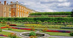 Hampton Court Palace gardens. The colourful gardens of Hampton Court Palace in London-home to Henry VIII Stock Image